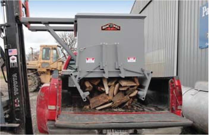 drop bottom wood hopper