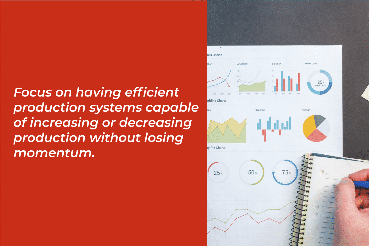 focus on having efficient production systems