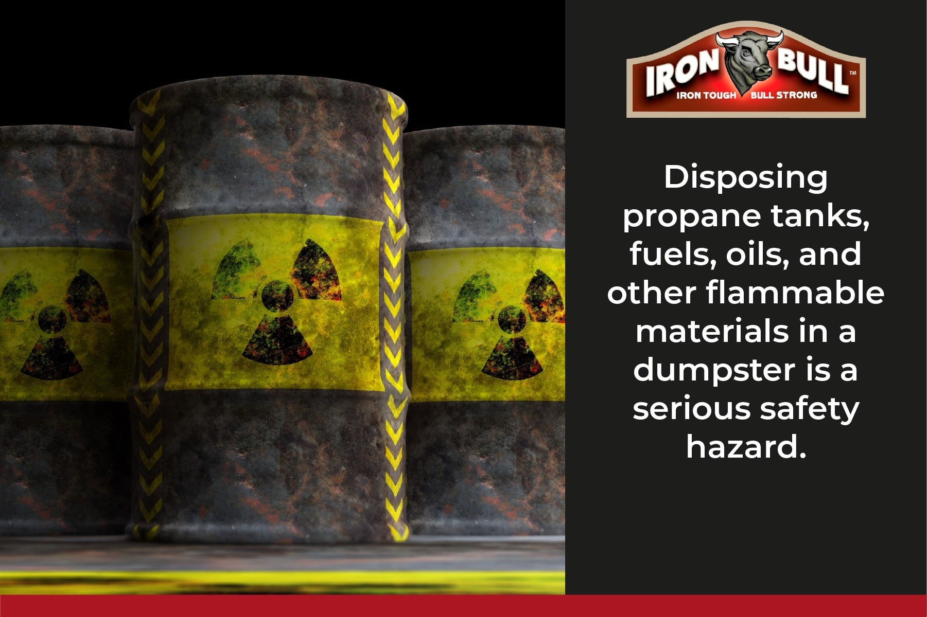 Disposing fuel in a dumpster is illegal