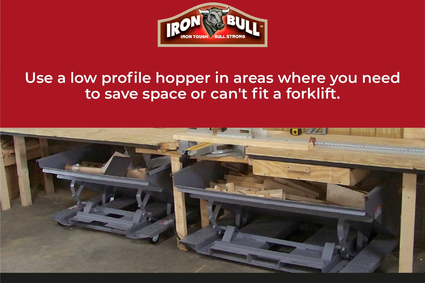low profile hoppers fit in small spaces