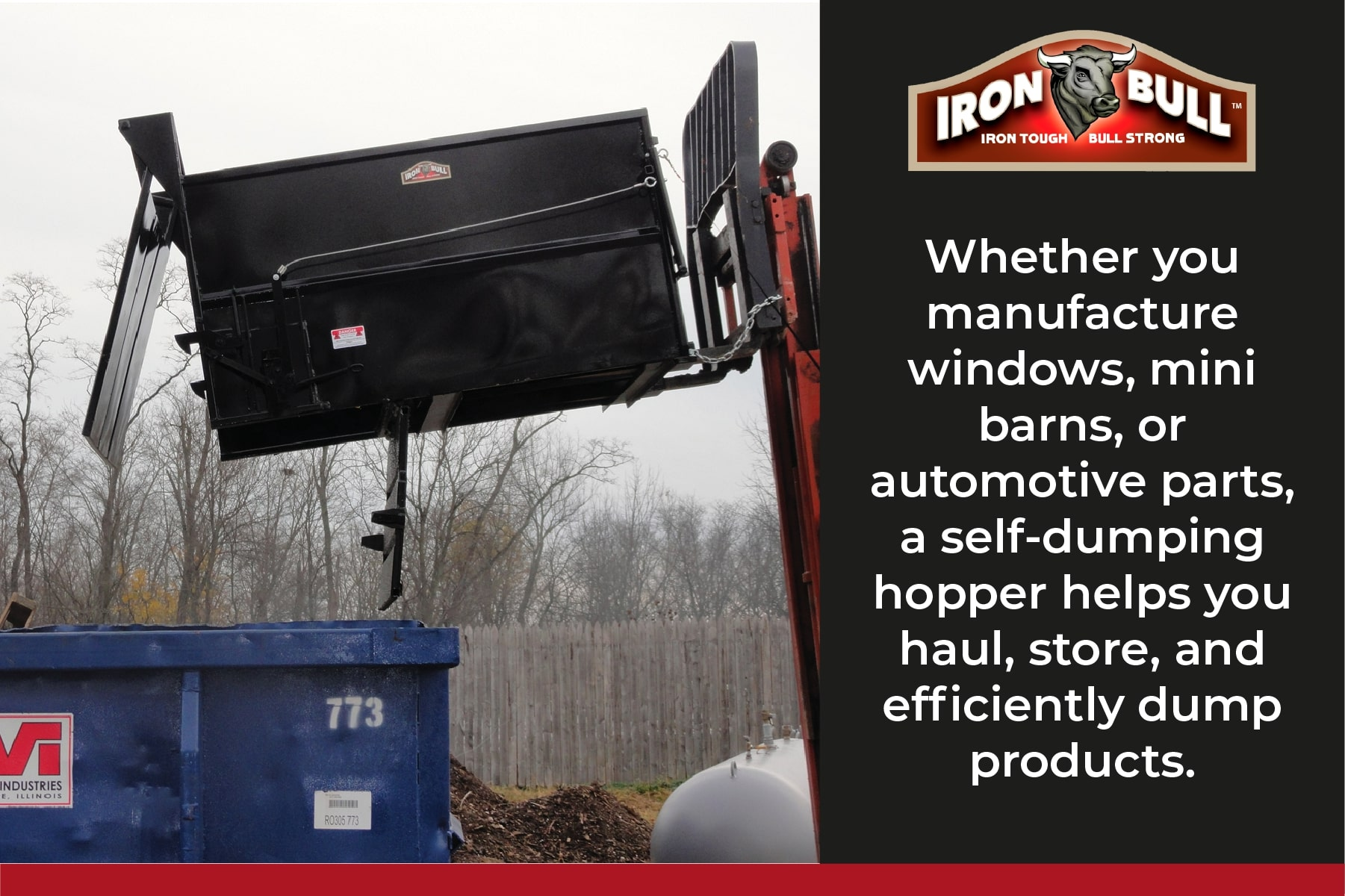 self dumping hoppers help store and dump waste