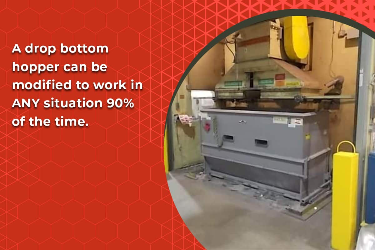 drop bottom hoppers are very versatile in waste management